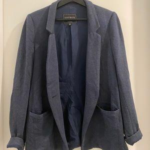 😁navy blue blazer with pockets